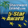 Sharewareisland.com - 5 Star award